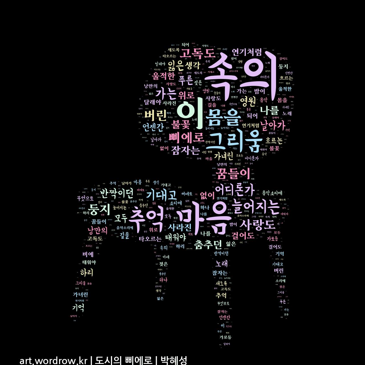 워드 아트: 도시의 삐에로 [박혜성]-9